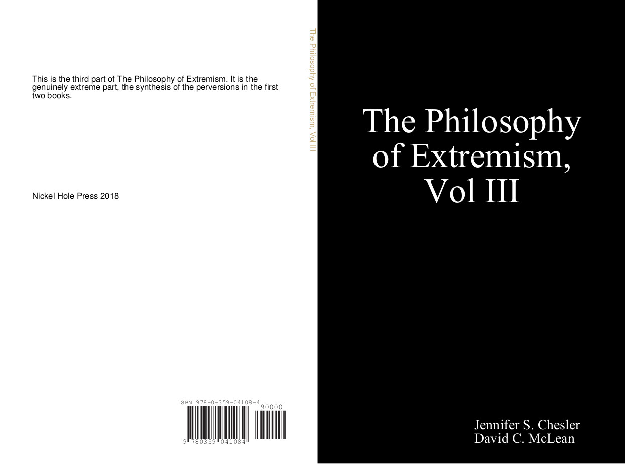 The Philosophy of Extremism III