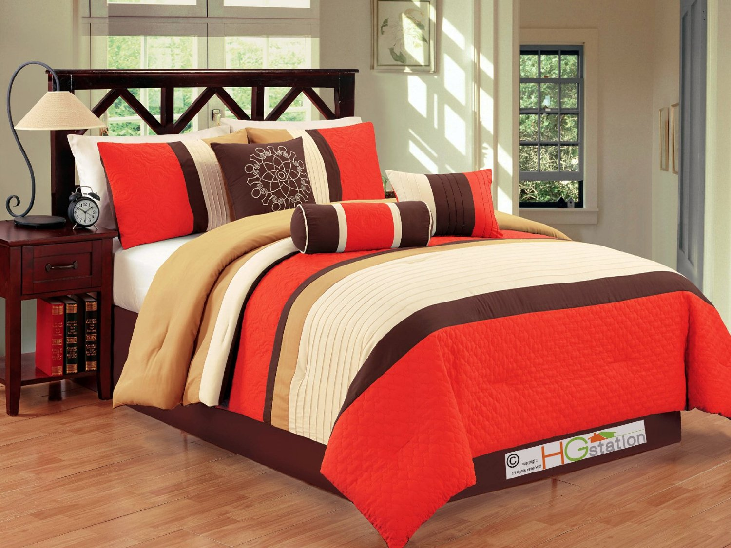 piece comforter popular burnt coursecanary twin taupe grey with aruba queen and com modern set orange sets