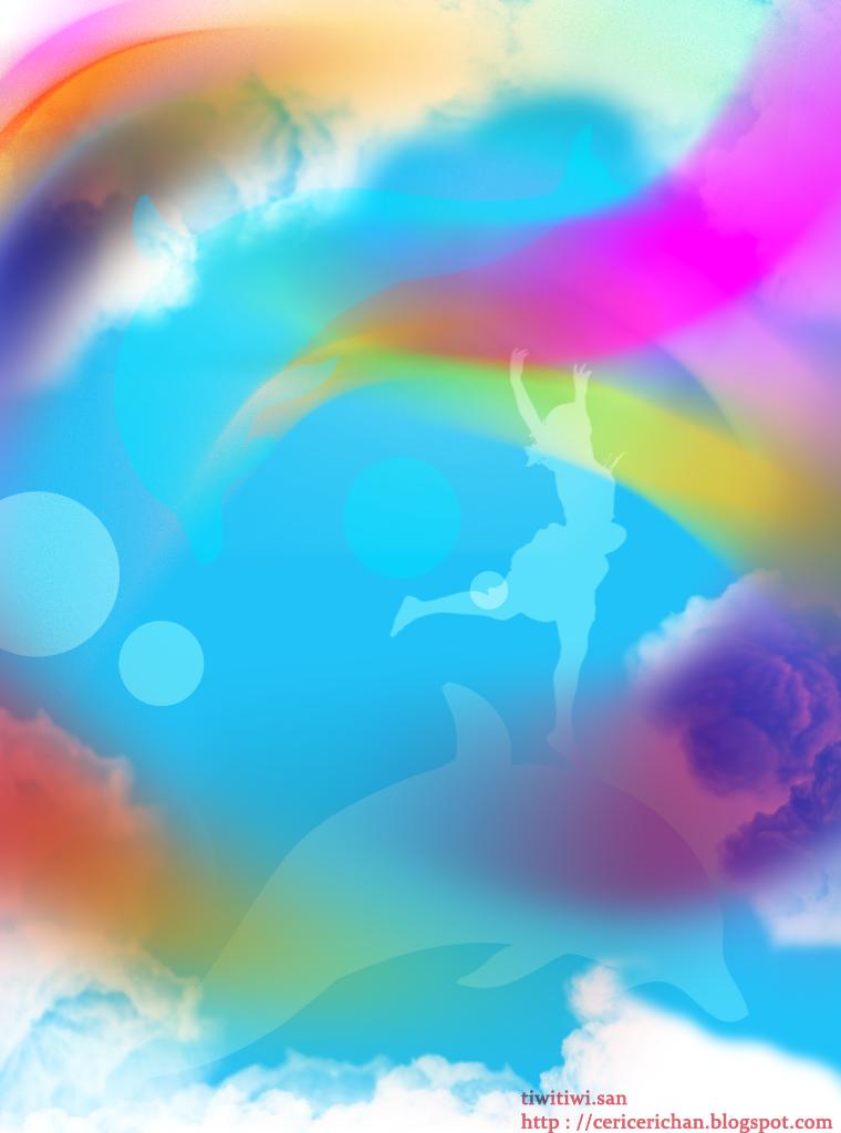 wanita, lumba-lumba, langit, wallpaper