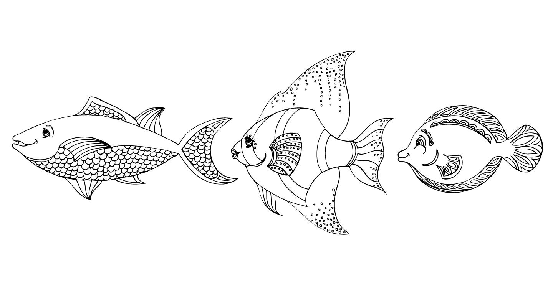 Fish Underwater Drawin...