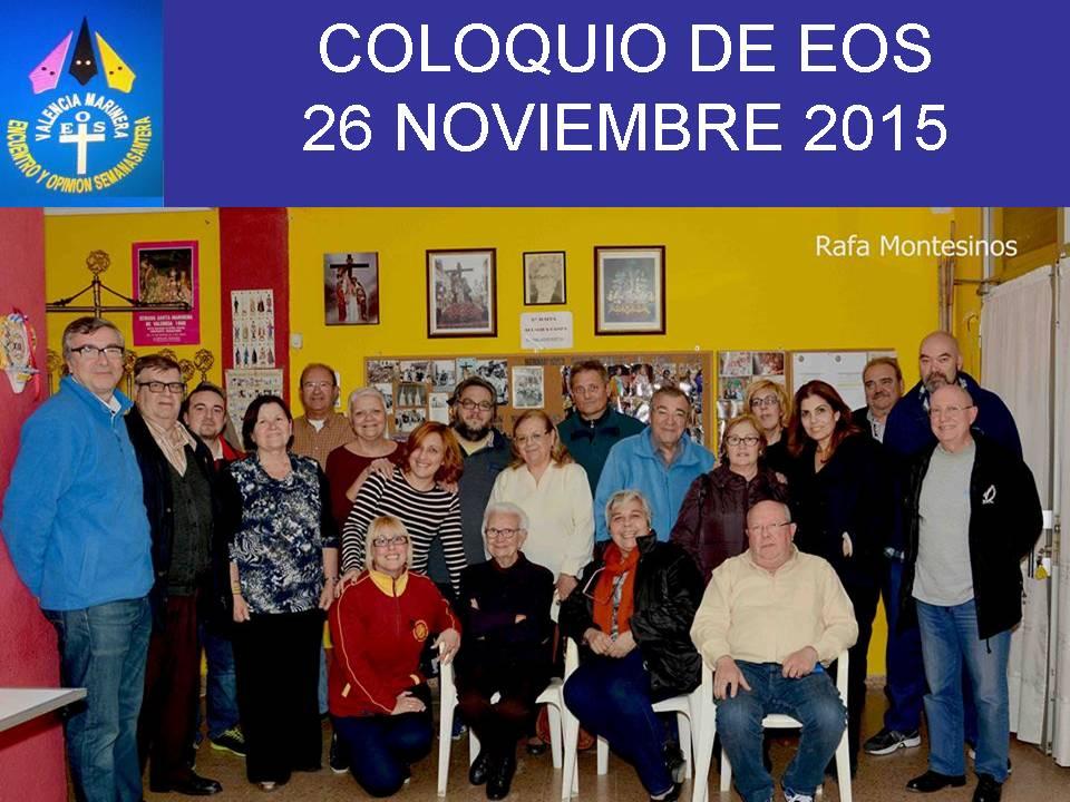 COLOQUIO DE EOS 26 DE NOVIEMBRE DE 2015