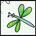 easy dragonfly for kids, easy draw