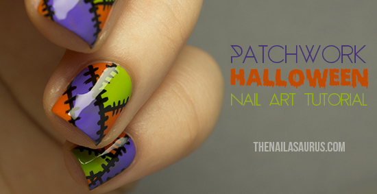 Halloween Patchwork Nail Art Tutorial