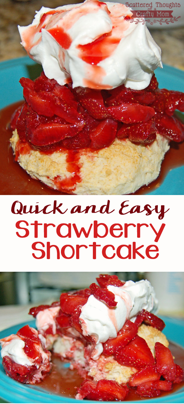 ... strawberries? Make this super Quick and Easy Strawberry Shortcake