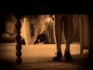 The Cat and the Canary 1927 legs under bed
