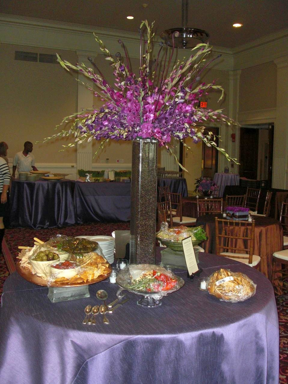 The best wedding decorations photos of tall wedding for Floral arrangements for wedding reception centerpieces