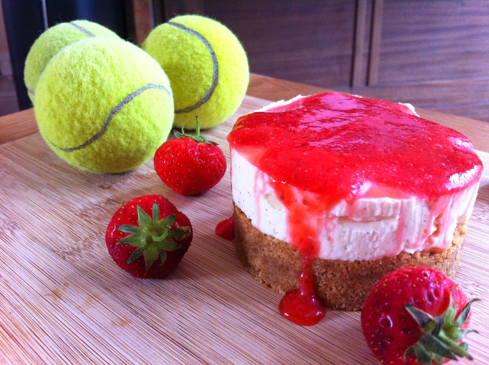 of strawberries and cream but a delightful light creamy cheesecake ...