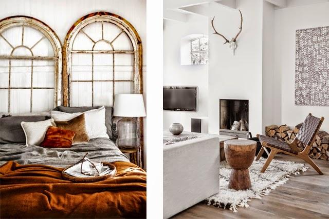 Tendance deco couleur murs gris + bois naturel