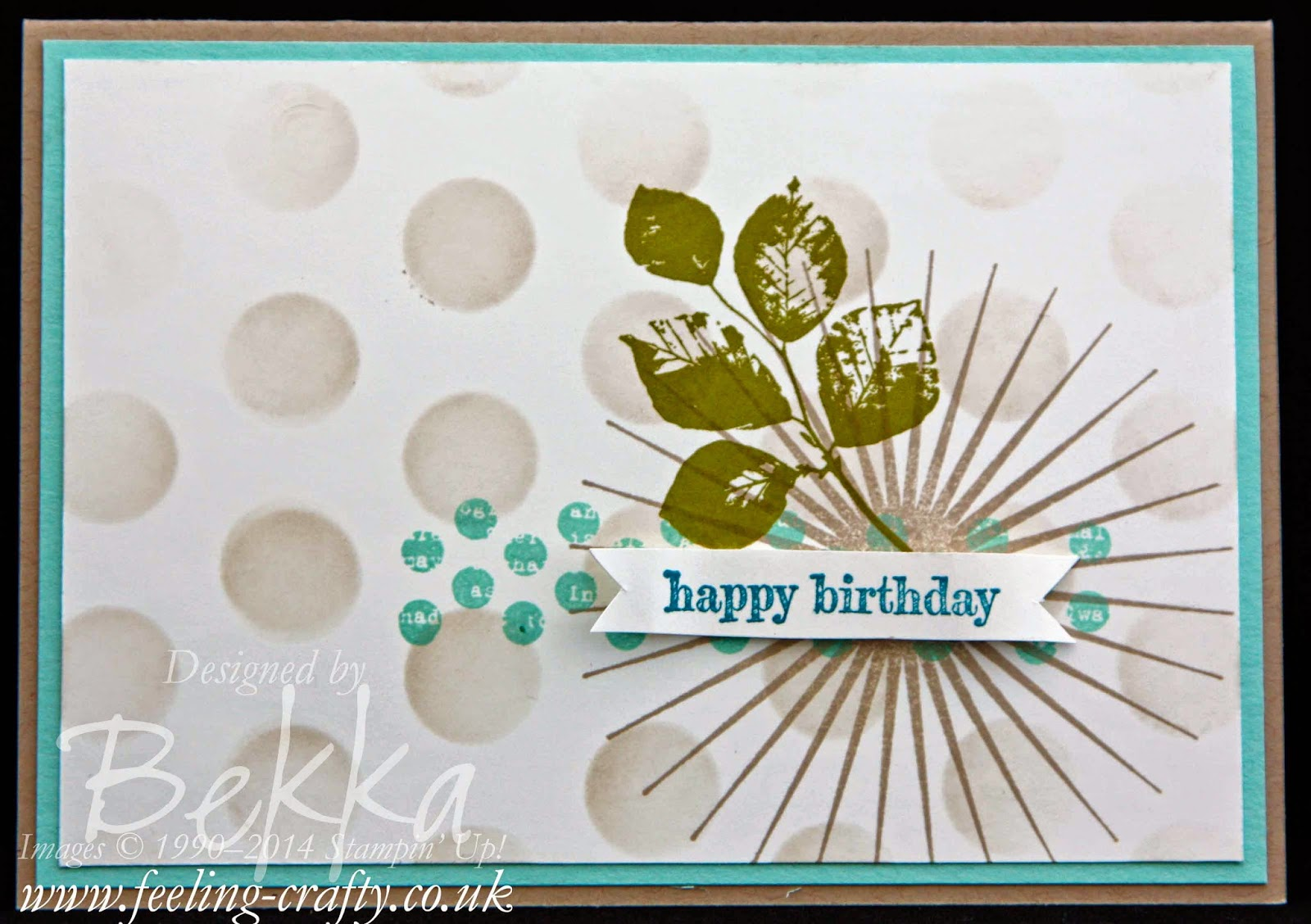 Birthday Card featuring the Kinda Eclectic Stamp Set from Stampin' Up! Lots of great ideas on this blog
