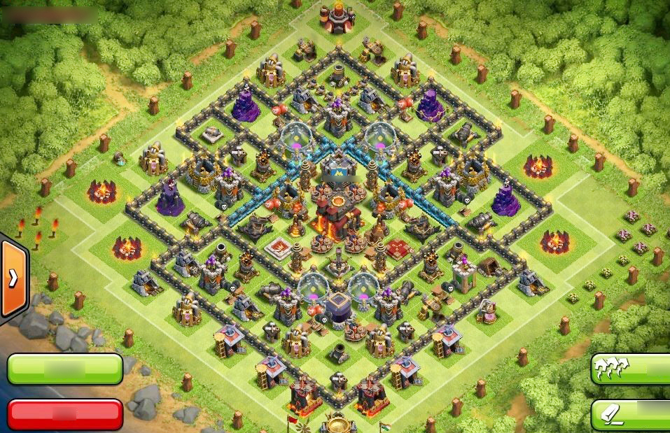 Clash of clans th10 crab war base clash of clans all bases