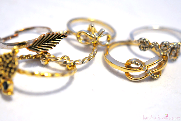 Delicate Golden Ring Collection