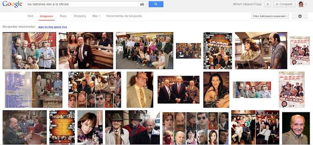 Resultados de Google para la serie Los ladrones van a la oficina