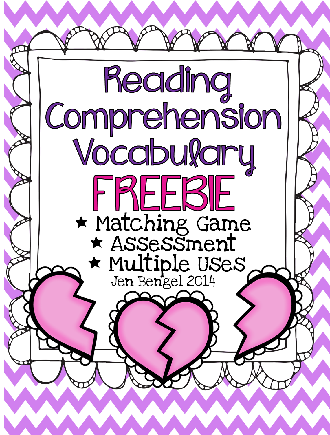 http://www.teacherspayteachers.com/Product/FREEBIE-Valentines-Day-Reading-Comprehension-Vocabulary-and-Assessment-1054433