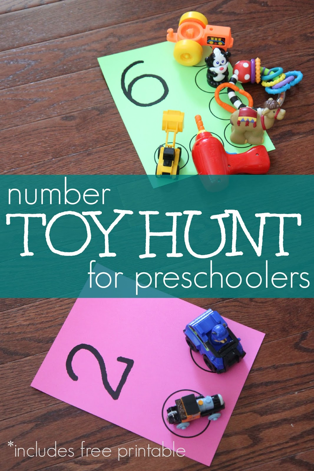toddler approved number toy hunt for preschoolers