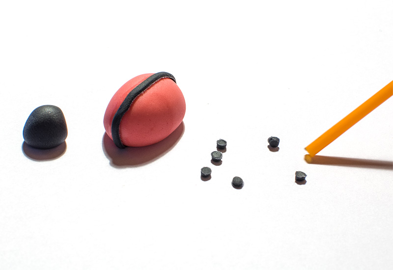 Ladybug fondant figure little black spots