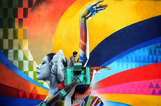 """The Dancer"" By Eduardo Kobra, a Street Art tribute to Maya Plisetskaya, one of the leading names in Russian ballet. 5"