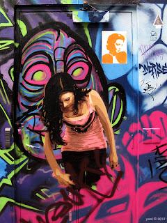 topham wall street art gallery - spray girl