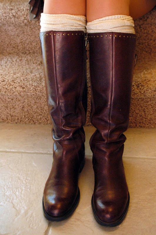 knee high boots with knee high socks style 1