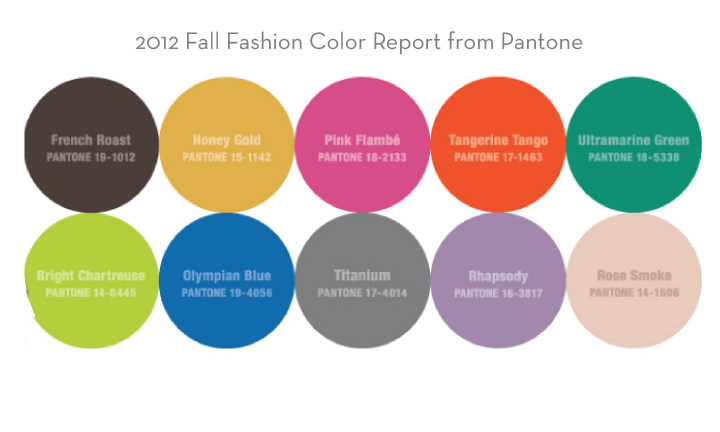 What Color Goes Good With Pink designs in paper: 2012 fall color report