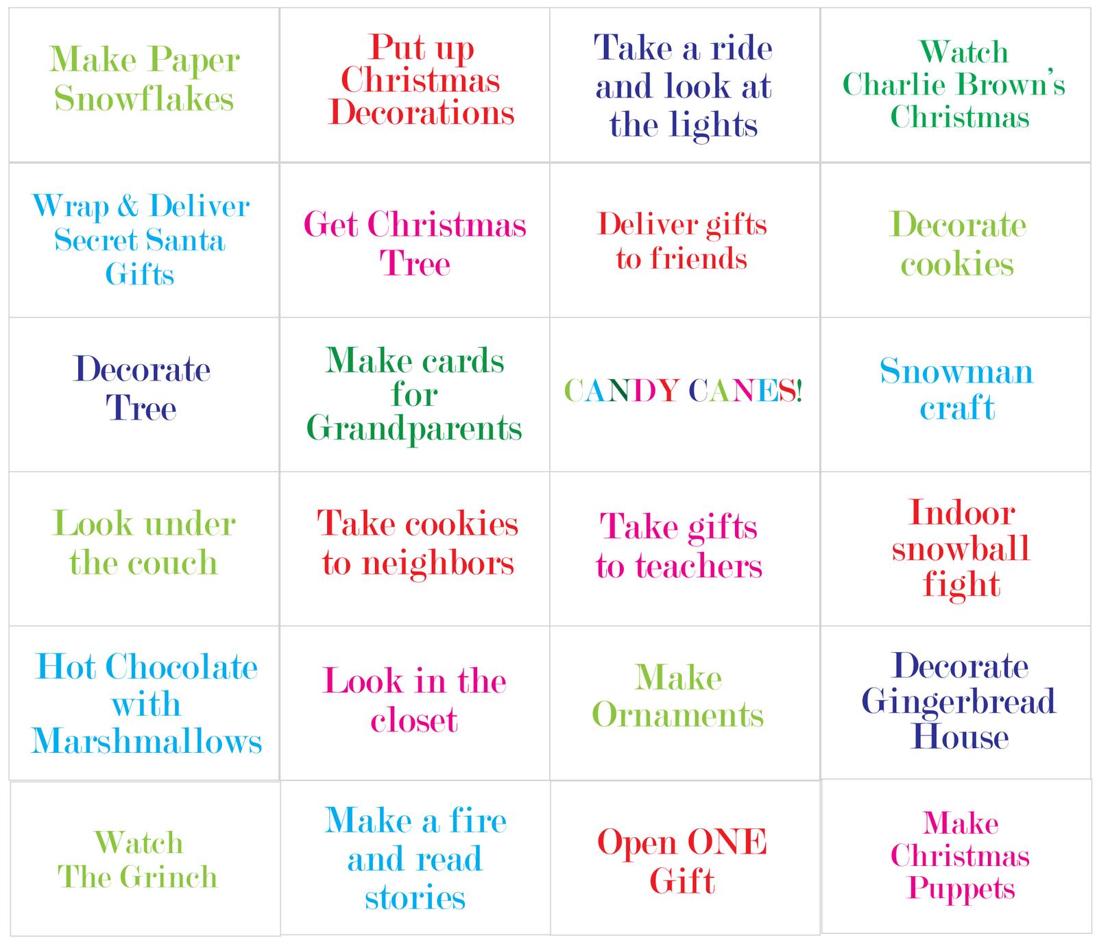 Advent Calendar List Ideas : Christina williams countdown to christmas