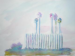 Birdhouses in a Row