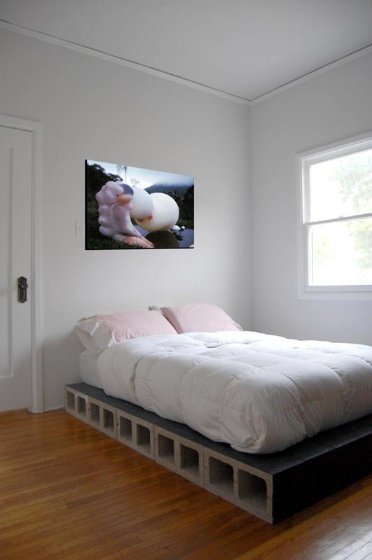 سرير لغرفة النوم مصنوع بالياجور