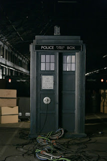 The out-of-commission TARDIS from Doctor Who Series 4 episode Turn Left