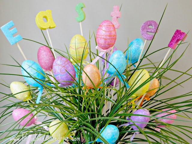 Easter Egg Spring Decor Arrangement