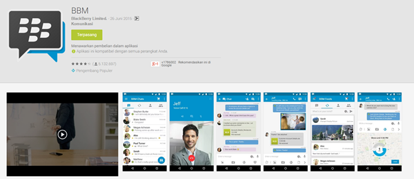 Update BBM versi Material Design Official Legal