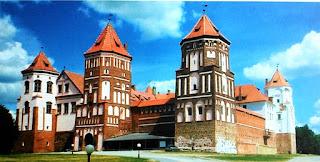Zamek w Mirze - obecnie na terytorium Białorusi