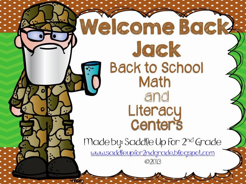 Welcome Back Jack: Back to School Math and Literacy Centers for Grades 1-2