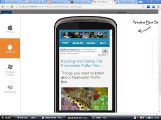 Mobile version website