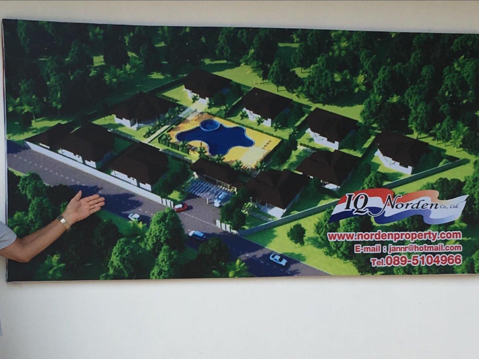 Vi bygger hus i Chackpong Ban Phe  IQ Norden Co.Ltd