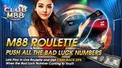 Get Cash Back 25% at M88 Roulette