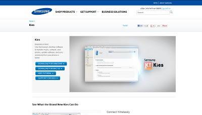 Samsung Kies, Mobile Phone Syn Tool