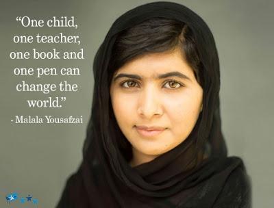 Malala scored top rank in school