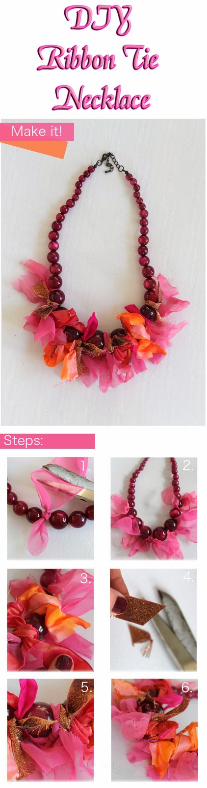 DIY Ribbon Tie Necklace