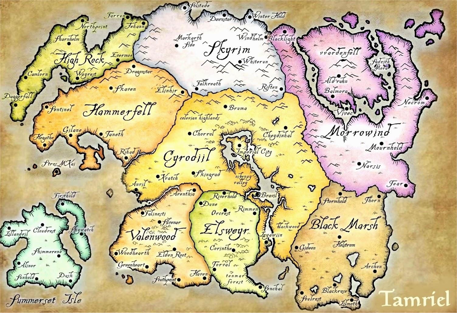 The Elder Scrolls Online Tamriel Karte