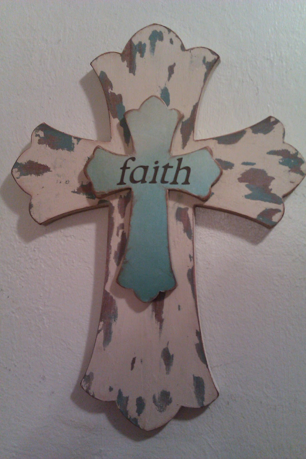 Jen's Happy Spot: Vaseline Distressed Wood Cross and