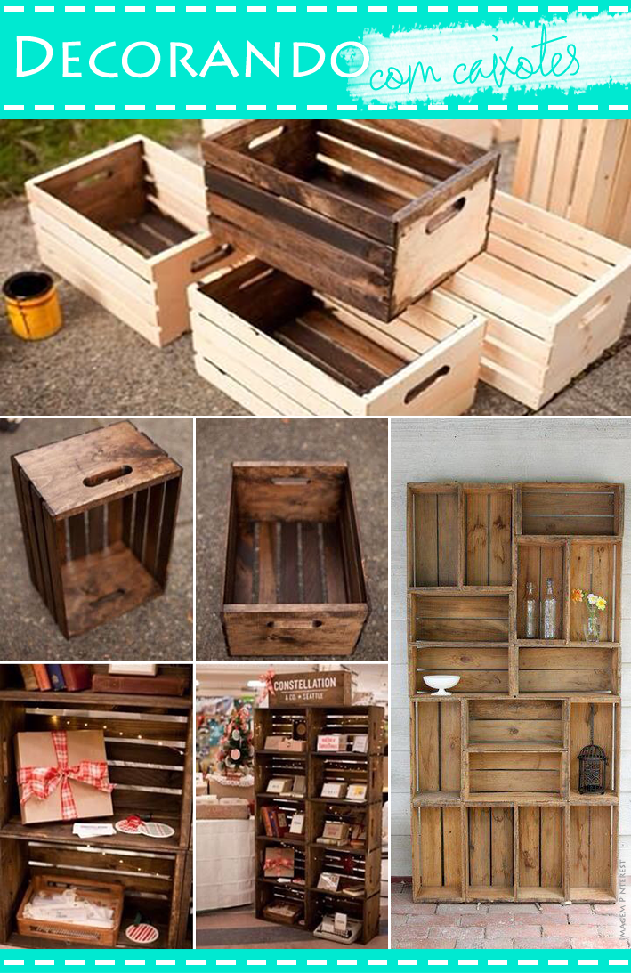 Blog da Jana, Joinville, Blog de acessórios, decoração, Decorando com caixotes