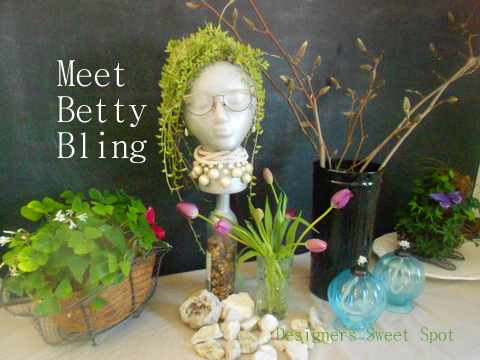 Meet Betty Bling (Faux Garden Head)|Designers Sweet Spot|www.designerssweetspot.com