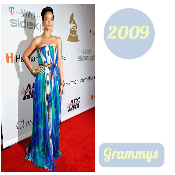 Rihanna grammys 2009