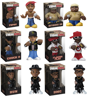 Hip-Hop Urban Vinyl Figures by Funko – Tupac Shakur, Notorious B.I.G., Public Enemy (Chuck D & Flavor Flav) and Run DMC