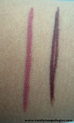 mac me over lip pencils swatches spice chestnut