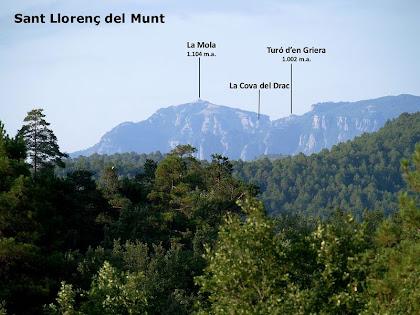 Sant Llorenç del Munt des del Serrat de la Torre