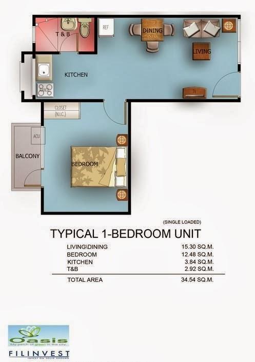 One Oasis Condominium, Ecoland, Davao City 1 Bedroom
