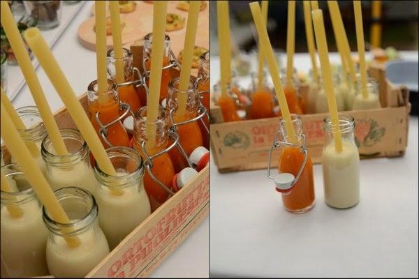 siebaecktgern 60ziger Catering Tomatensuppe Petersilienwurzel Suppenflasche