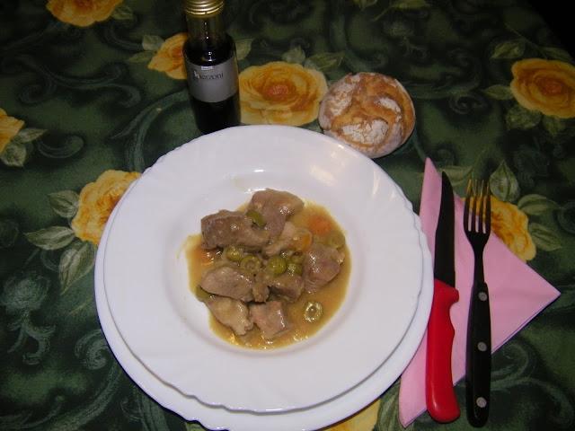 ricetta spezzatino di polpa di maiale in agrodolce