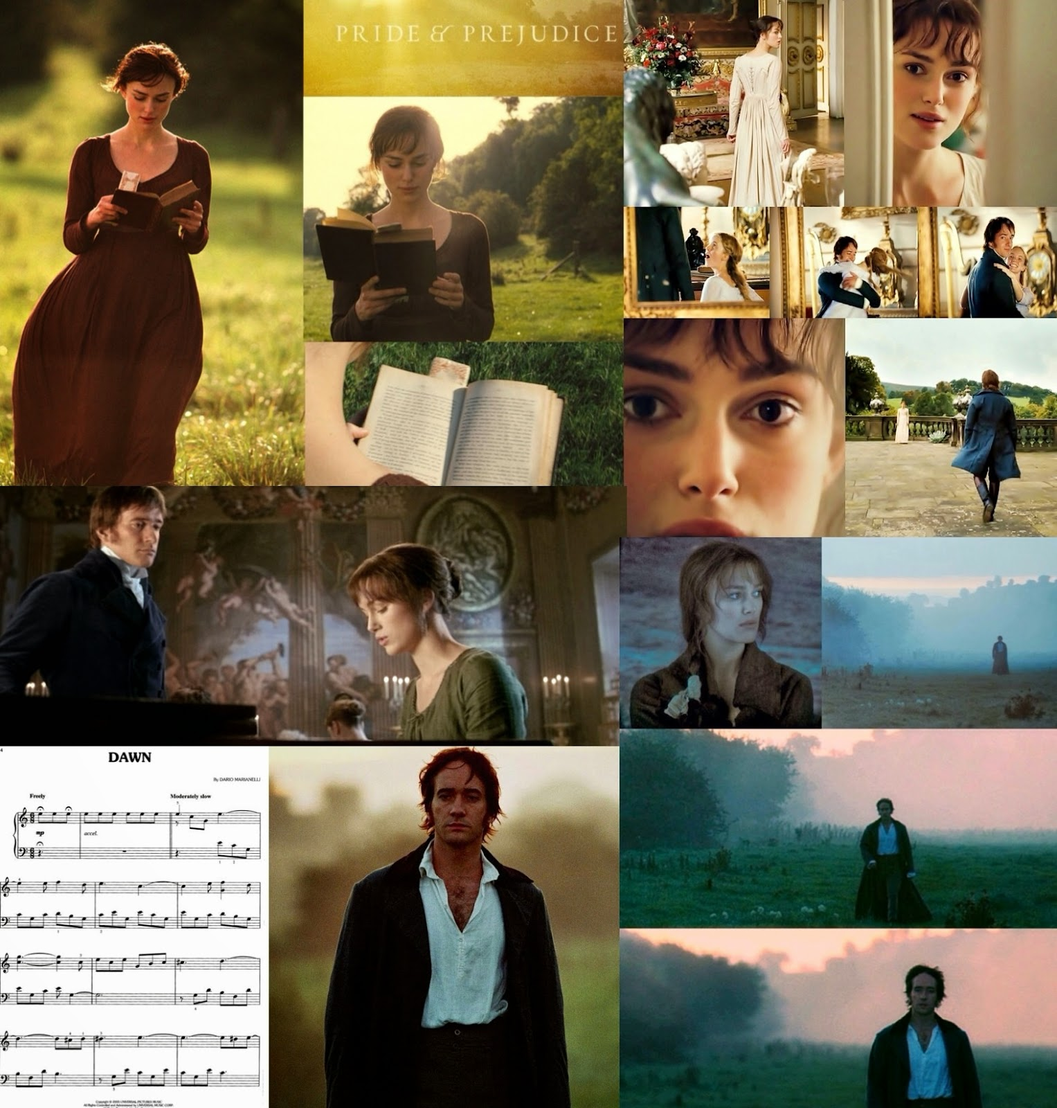 pride prejudice 2005 blog p p blog s movie roundtable the song dawn is used three times we hear at the beginning of the film when elizabeth is walking home while reading her book