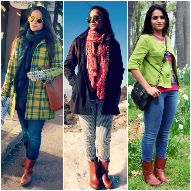 Three Ways To Style A Brown Mid-Rise Boots, Tanvii.com